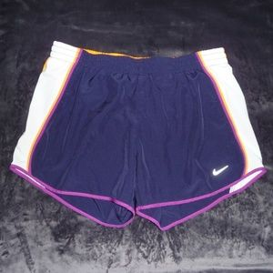 Nike Dri-Fit Tempo Run Shorts Navy Purple Orange